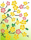 флористический вектор иллюстрации Стоковые Изображения