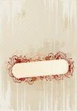 флористический вектор иллюстрации grunge рамки Стоковое Фото