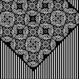 флористический вектор картины шнурка Стоковое фото RF