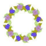 Флористический венок для поздравительной открытки стоковое изображение