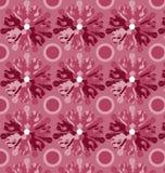 Флористический геометрический красный цвет Стоковое Изображение