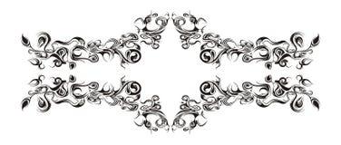 флористический горизонтальный орнамент Стоковая Фотография RF