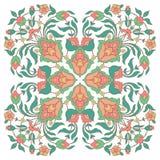 Флористический дизайн в восточном стиле Стоковое Изображение RF