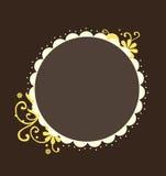 флористический желтый цвет рамки Стоковые Фото