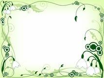 флористический зеленый цвет рамки Иллюстрация штока