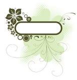 флористический зеленый цвет рамки Стоковые Фото