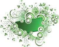 флористический зеленый цвет рамки Стоковые Фотографии RF