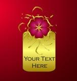флористический золотистый вектор иллюстрации Стоковое Изображение