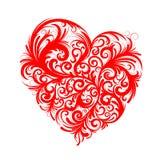 флористический красный цвет сердца Стоковая Фотография