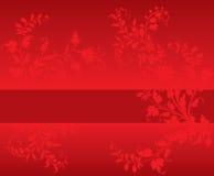 флористический красный цвет Стоковые Изображения
