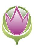 флористический логос Стоковая Фотография