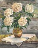 Флористический натюрморт в теплых цветах стоковая фотография rf