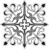 Флористический орнаментальный крест Иллюстрация штока