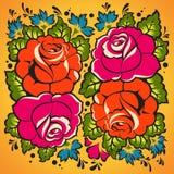 Флористический орнамент в русском типе Стоковое Изображение