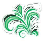 Флористический орнамент, флористический орнамент лист переченя выгравировал вектор дизайна цветочного узора декоративный Стоковая Фотография