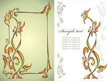 флористический орнамент рамки Стоковое Изображение RF