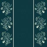 флористический орнамент рамки Стоковые Изображения