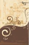 флористический орнамент swirly Стоковые Фото