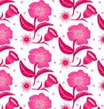 флористический пинк картины безшовный Стоковые Изображения RF