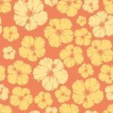 флористический повторять картины hibiscus цветка Стоковая Фотография RF