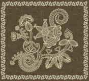 флористический сбор винограда картины рамки Стоковые Фото