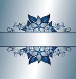 флористический серебр рамки Стоковое Изображение RF