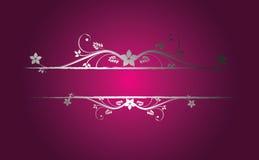 флористический серебр рамки Стоковые Фотографии RF
