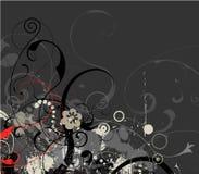 флористический серый вектор grunge Стоковое Фото