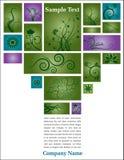 флористический текст страницы Стоковая Фотография RF