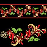 Флористический фольклорный орнамент Стоковое Фото