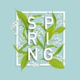 Флористический шаблон дизайна весны для карточки, знамени продажи, плаката, плаката, крышки, печати футболки предпосылка цветет л Стоковые Фотографии RF