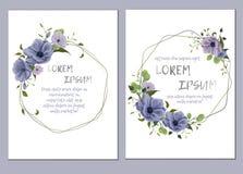 Флористический шаблон для wedding приглашения иллюстрация штока