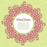 Флористический шаблон карточки Стоковое фото RF