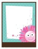флористический шаблон плаката рогульки 5x11 8 Стоковая Фотография RF
