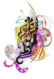 Флористическое абстрактного орла красочное брызгает Иллюстрация штока