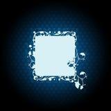 флористическое абстрактной предпосылки голубое темное Стоковое Изображение
