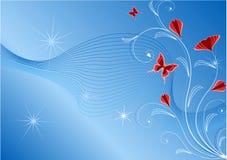флористическое абстрактной предпосылки голубое Стоковое Изображение RF