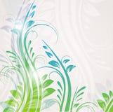 флористическое абстрактной предпосылки голубое Стоковая Фотография RF
