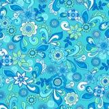 флористическое в стиле фанк повторение картины безшовное иллюстрация вектора
