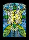 флористическое запятнанное стекло Стоковые Фотографии RF