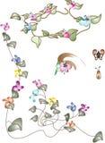 флористическое знамени угловойое Стоковая Фотография