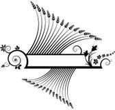 флористическое знамени черное иллюстрация штока