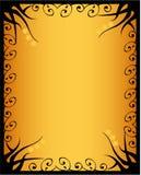 флористическое золотистое Стоковые Изображения