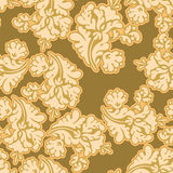 флористическое золото безшовное Стоковое Изображение RF