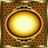 флористическое золото рамки Стоковые Фотографии RF