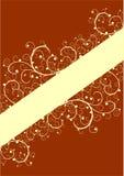 флористическое золото рамки Стоковая Фотография