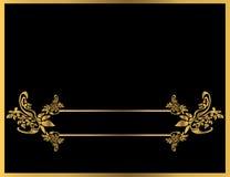 флористическое золото рамки 5 Стоковая Фотография RF