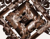 флористическое обрамленное тропическое Стоковые Изображения RF