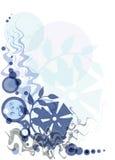 флористическое предпосылки голубое Стоковая Фотография