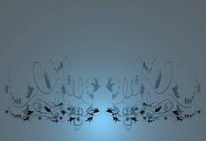флористическое предпосылки голубое Стоковые Фотографии RF